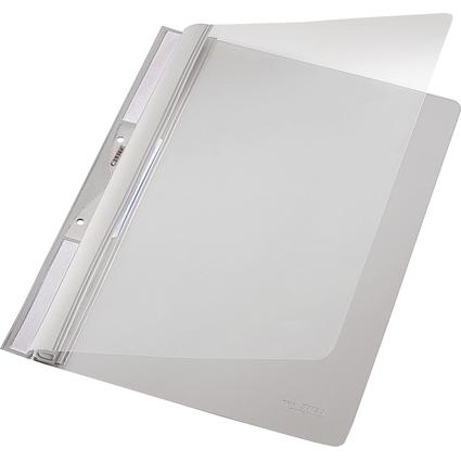 LEITZ Einhänge-Schnellhefter Universal, DIN A4, PVC, grau