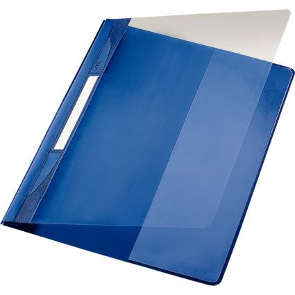 LEITZ Schnellhefter Exquisit, DIN A4 Überbreite, PVC, blau