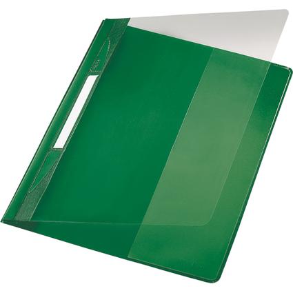 LEITZ Schnellhefter Exquisit, DIN A4 Überbreite, PVC, grün