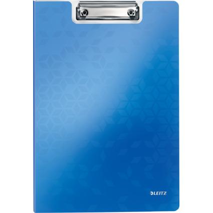 LEITZ Klemmbrett-Mappe WOW, DIN A4, Polyfoam, blau-metallic