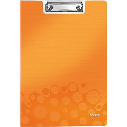 LEITZ Klemmbrett-Mappe WOW, DIN A4, Polyfoam,orange-metallic