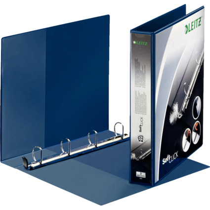 LEITZ Präsentatons-Ringbuch SoftClick, A4 Überbreite, blau