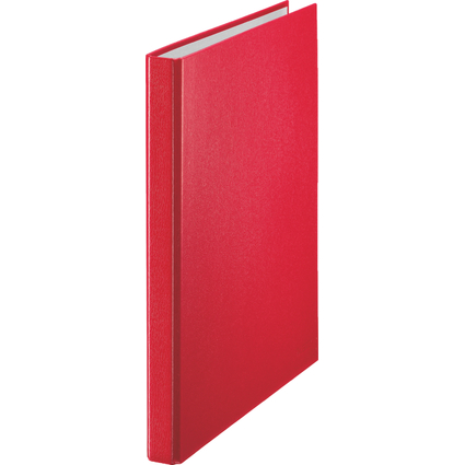 LEITZ Ringbuch Standard, DIN A4 Überbreite, rot, 2 D-Ring-