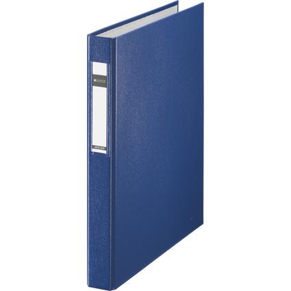LEITZ Ringbuch Standard, DIN A4 Überbreite, blau, 2 D-Ring-