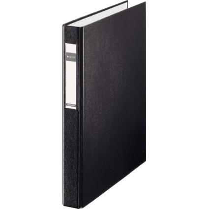 LEITZ Ringbuch Standard, DIN A4 Überbreite, schwarz,2 D-Ring