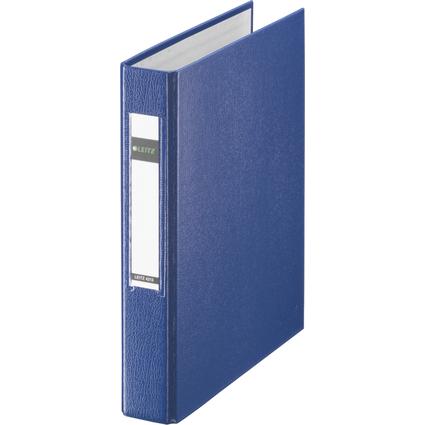 LEITZ Ringbuch Standard, DIN A5, blau, 2 D-Ring-Mechanik