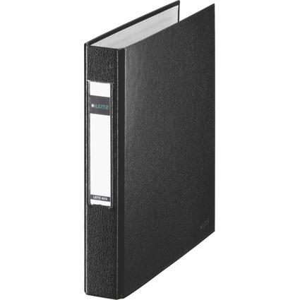 LEITZ Ringbuch Standard, DIN A5, schwarz, 2 D-Ring-Mechanik