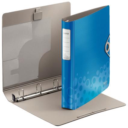 LEITZ Ringbuch Active Bebop, A4, Polyfoam, blau, 4 D-Ring