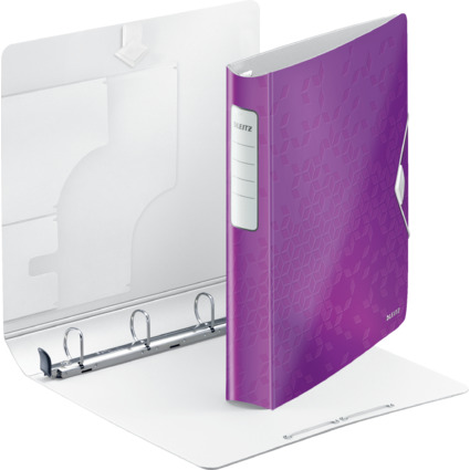 LEITZ Ringbuch Active WOW SoftClick, A4, violett, 4 D-Ring