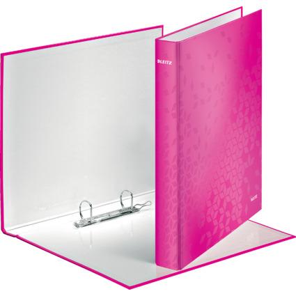 LEITZ Ringbuch WOW, DIN A4, Hartpappe, pink-metallic