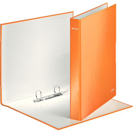 LEITZ Ringbuch WOW, DIN A4, Hartpappe, orange-metallic