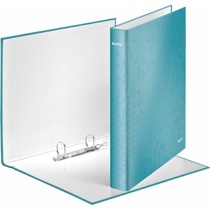LEITZ Ringbuch WOW, DIN A4, Hartpappe, eisblau