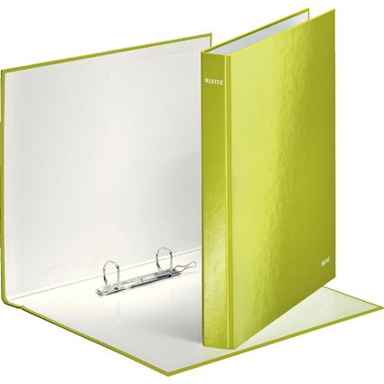 LEITZ Ringbuch WOW, DIN A4, Hartpappe, grün-metallic
