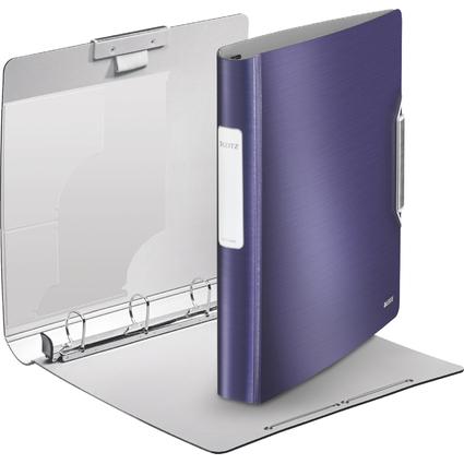 LEITZ Ringbuch Active Style SoftClick, A4, titan-blau