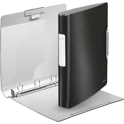 LEITZ Ringbuch Active Style SoftClick, A4, satin-schwarz