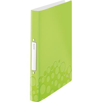 LEITZ Ringbuch WOW, DIN A4, PP, grün-metallic, 2 Ringe
