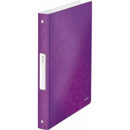 LEITZ Ringbuch WOW, DIN A4, PP, violett, 4 Ringe