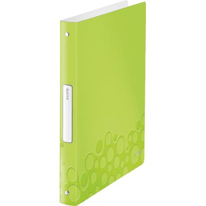 LEITZ Ringbuch WOW, DIN A4, PP, grün-metallic, 4 Ringe