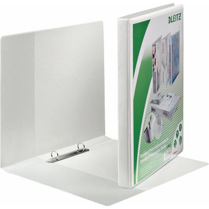 LEITZ Präsentations-Ringbuch, A4 Überbreite, weiß, 2 Rund-