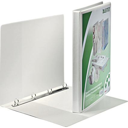 LEITZ Präsentations-Ringbuch, A4 Überbreite, weiß, 4 Rund-
