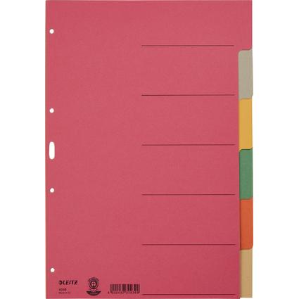 LEITZ Karton-Register extrastark, blanko, A4, 6-teilig