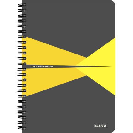 "LEITZ Collegeblock ""Office"", DIN A5, liniert, 90 Blatt, gelb"
