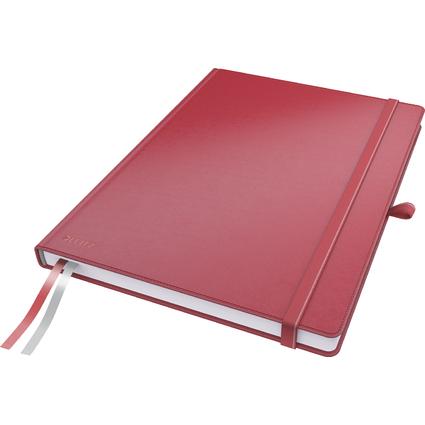 LEITZ Notizbuch Complete, DIN A4, kariert, rot