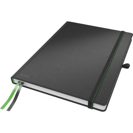 LEITZ Notizbuch Complete, DIN A4, kariert, schwarz
