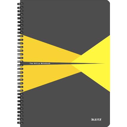 "LEITZ Collegeblock ""Office"", DIN A4, liniert, 90 Blatt, gelb"