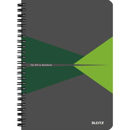 """LEITZ Collegeblock """"Office"""", DIN A5, kariert, 90 Blatt, grün"""