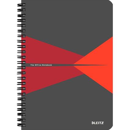 """LEITZ Collegeblock """"Office"""", DIN A5, liniert, 90 Blatt, rot"""