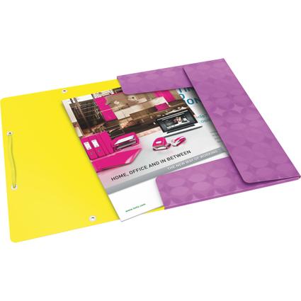 LEITZ Eckspannermappe Retro Chic, DIN A4, PP, violett