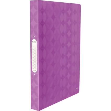 LEITZ Ringbuch Retro Chic, A4, PP, violett, 2 Rund-Ring-