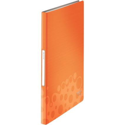 LEITZ Sichtbuch Bebop, A4, PP, mit 40 Hüllen, orange