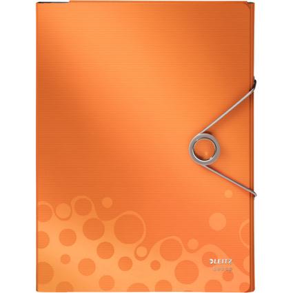 LEITZ Schreibmappe Bebop, DIN A4, PP, orange