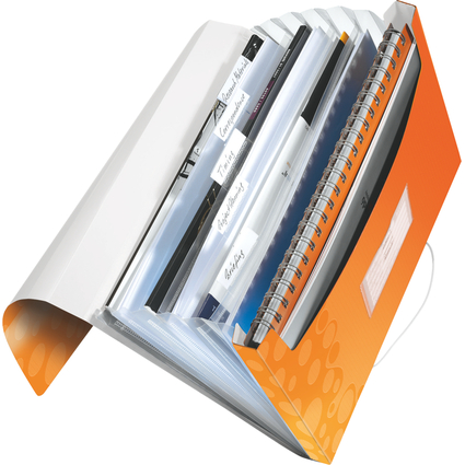 LEITZ Projektmappe WOW, A4, PP, 6 Fächer, orange-metallic