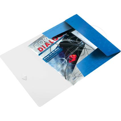 LEITZ Eckspannermappe WOW, DIN A4, PP, blau-metallic