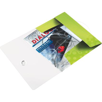 LEITZ Eckspannermappe WOW, DIN A4, PP, grün-metallic