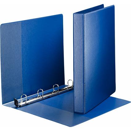 LEITZ Premium Ringbuch, DIN A4 Überbreite, blau, 4 D-Ring