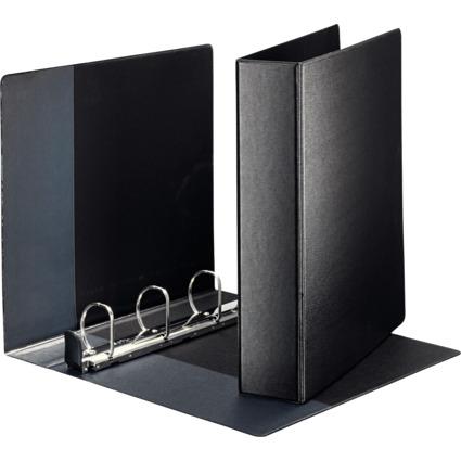 LEITZ Premium Ringbuch, DIN A4 Überbreite, schwarz, 4 D-Ring