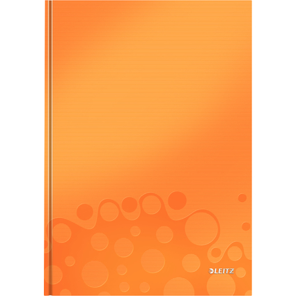 LEITZ Notizbuch WOW, DIN A4, kariert, orange metallic