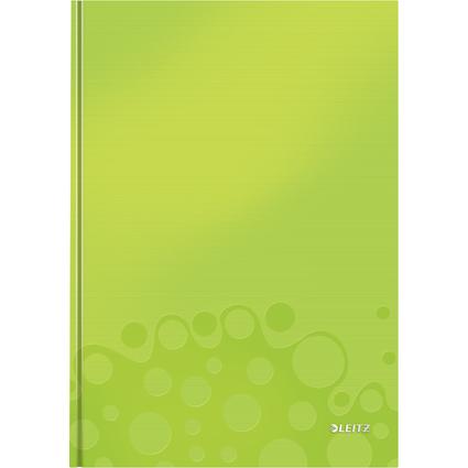 LEITZ Notizbuch WOW, DIN A4, kariert, grün metallic