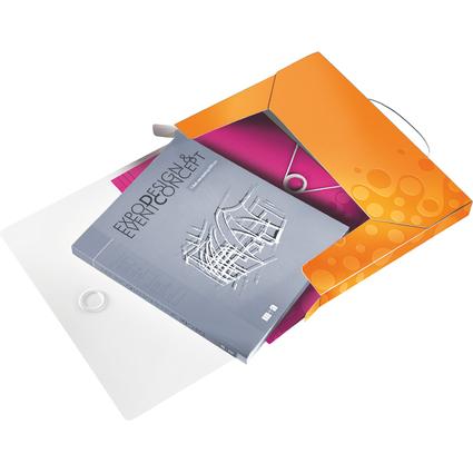 LEITZ Ablagebox WOW, DIN A4, PP, orange-metallic