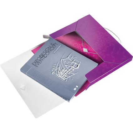 LEITZ Ablagebox WOW, DIN A4, PP, violett