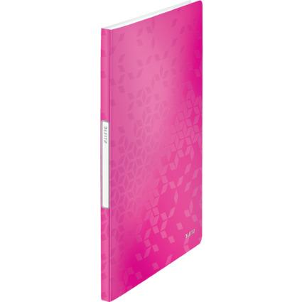 LEITZ Sichtbuch WOW, A4, PP, mit 20 Hüllen, pink-metallic