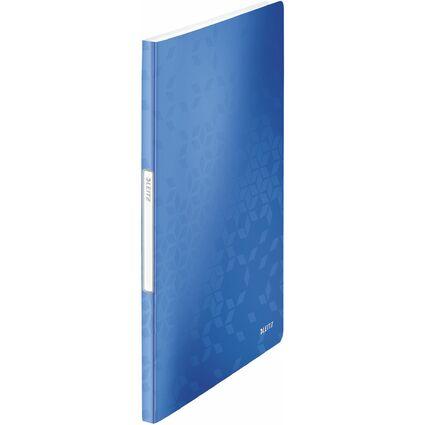 LEITZ Sichtbuch WOW, A4, PP, mit 20 Hüllen, blau-metallic