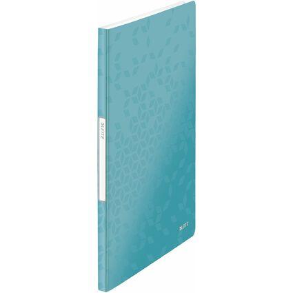 LEITZ Sichtbuch WOW, A4, PP, mit 20 Hüllen, eisblau