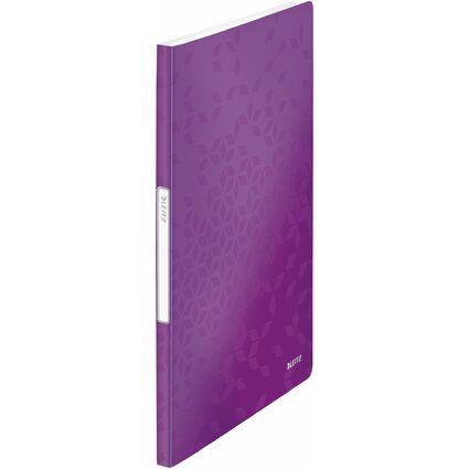 LEITZ Sichtbuch WOW, A4, PP, mit 20 Hüllen, violett