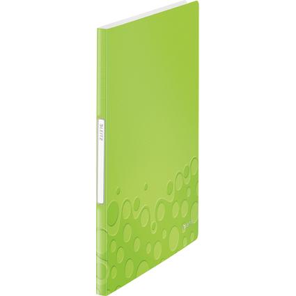 LEITZ Sichtbuch WOW, A4, PP, mit 20 Hüllen, grün-metallic