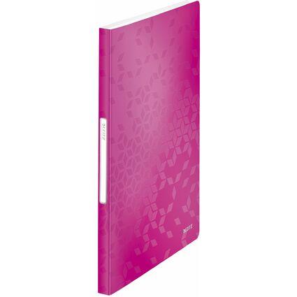 LEITZ Sichtbuch WOW, A4, PP, mit 40 Hüllen, pink-metallic